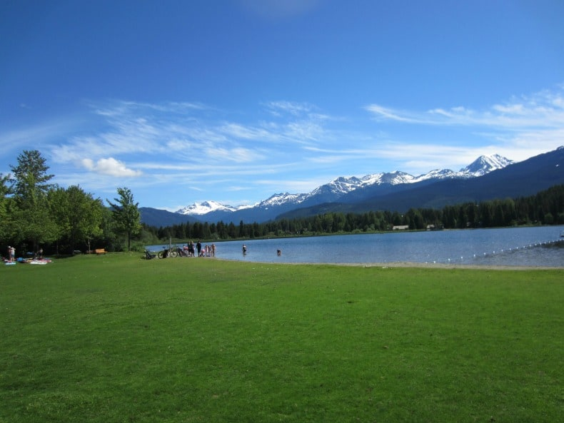 Rainbow park during Whistler summer