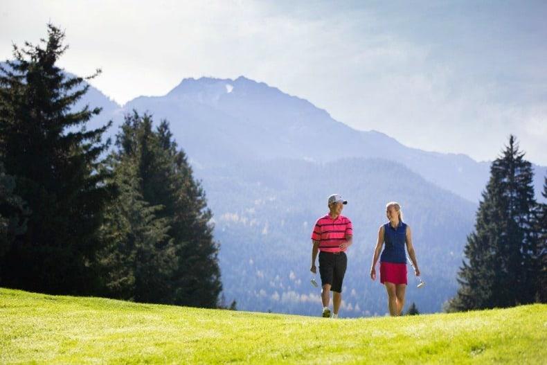 golf during Whistler summer