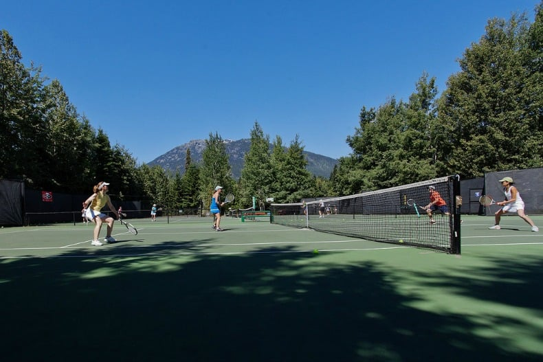 tennis during whistler summer
