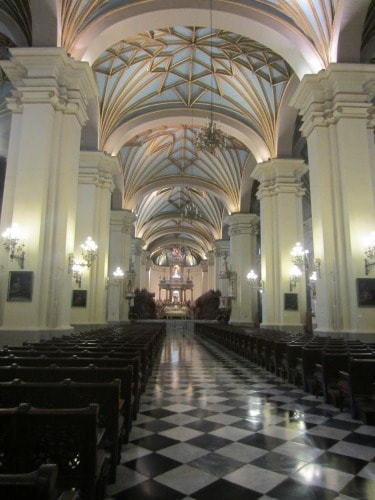 Inside the Cathedral of Lima, Peru