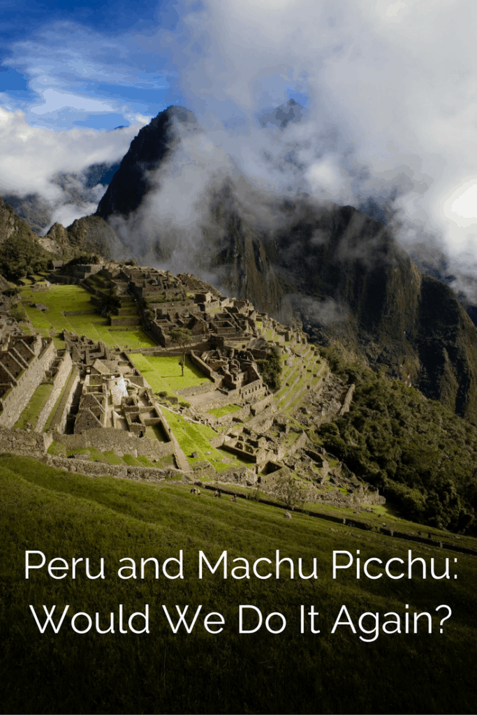 We spent a week in Peru visiting Lima, Cusco, the Sacred Valley and Machu Picchu. We visited small villages and markets and watched artisans at work weaving works of art. We horseback rode in the mountains and ate delicious meals. We explored Inca Ruins, including Machu PIcchu. Would we do it again? | Aguas Calientes, alpaca, child, horseback riding, Kouda travel, llama, Magic Water Tour, Miraflores, Pisac, Sacsayhuaman, teen, pottery.