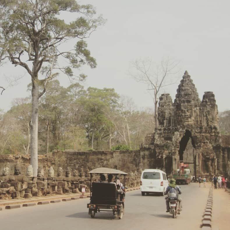 Bayon temple in Siem Reap, Cambodia