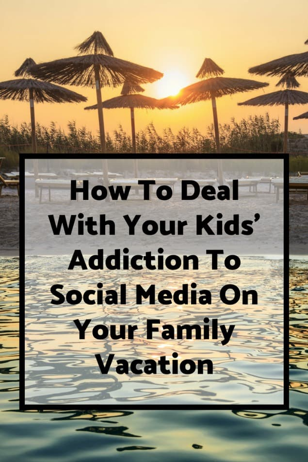 I have four kids, all of which are teenagers or older. We have travelled together as a family for 20 years. Here are 7 tricks for limiting your kid's seemingly endless obsession with their phones and their social media while on a family holiday. #travel #familytravel #travelwithkids #traveltips | all inclusive, beach, child, teen, electronics, family time, wifi, limited wifi, strategies