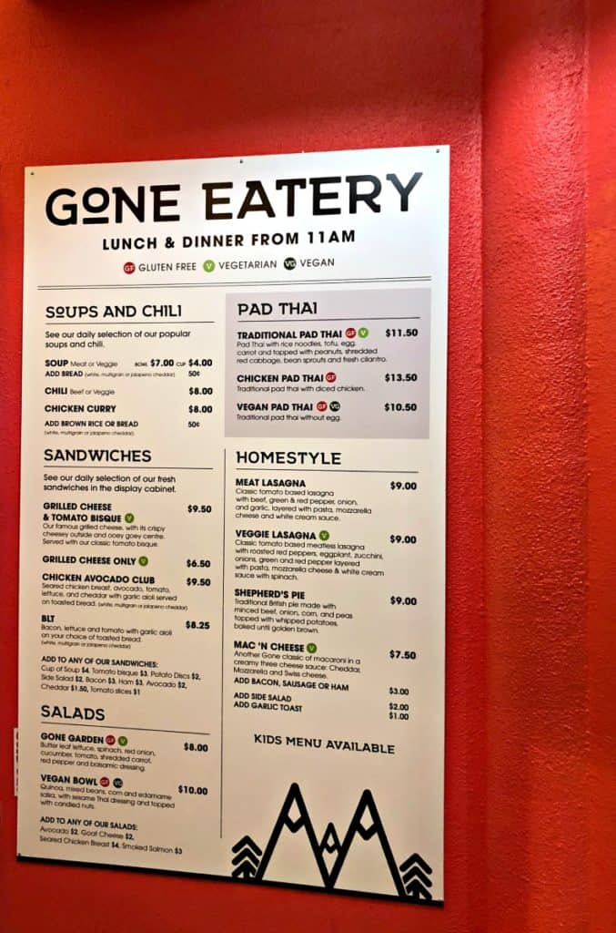 Gone Eatery, one of the Whistler restaurants