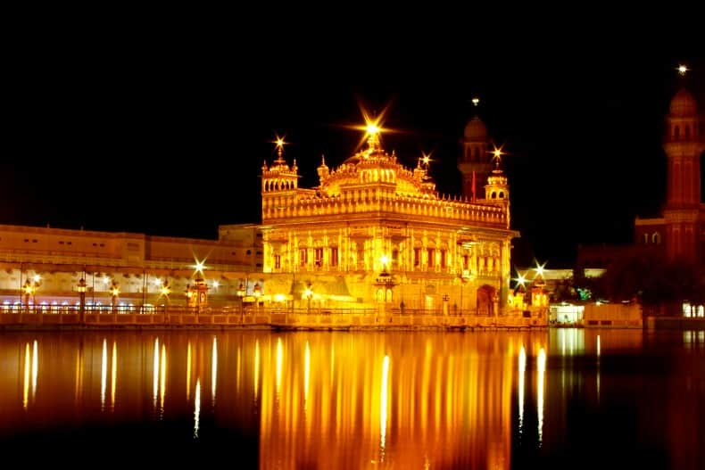 The Golden Temple in Amritsar, India.
