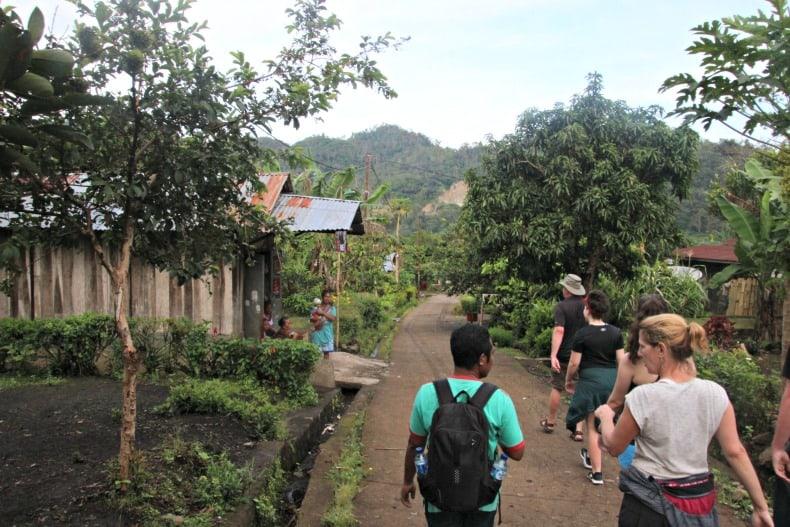 The village of Moni near Indonesia volcano