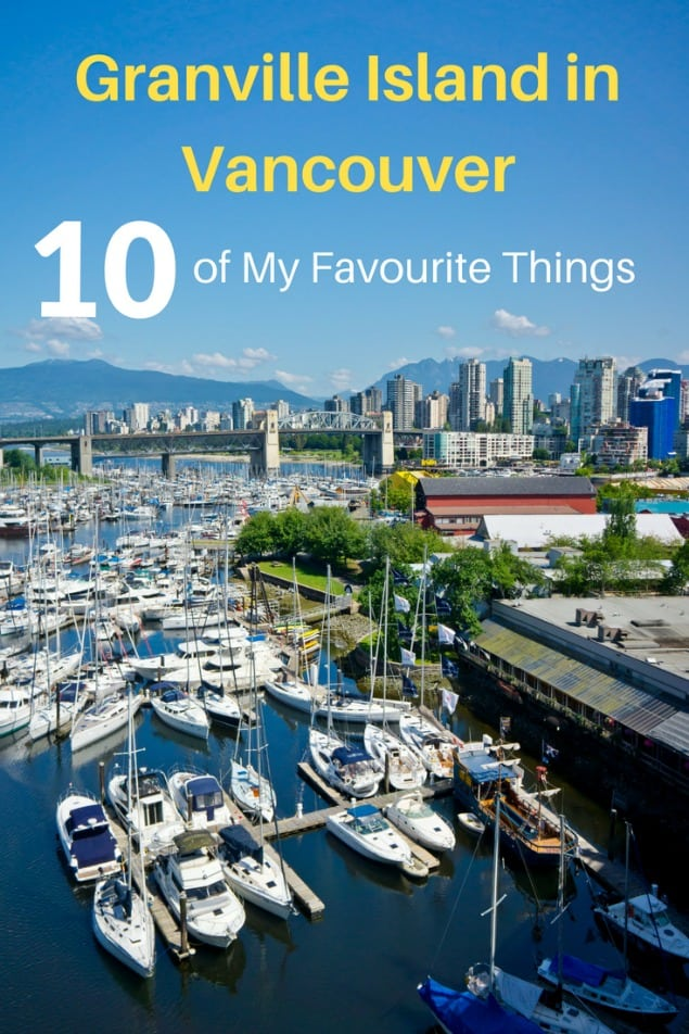 Granville Island in Vancouver is a fantastic spot to spend a day. There are lots of activities to do that would entertain people of all ages. After countless visits over the years, here are my favourites. What are you going to do first? #travel #familytravel #travelwithkids #Canada #BritishColumbia| Aquabus, Beadworks, Burrard Inlet, crafts, Dockside Restaurant, ferry, Kids Market, Mobi, Pacific Ocean, Public Market, Seawall, shopping, Stanley Park, street performers, Theatre Sports, water park