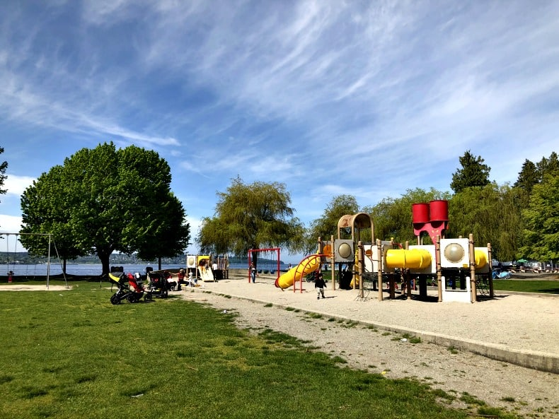 The playground at Second Beach at Stanley Park.
