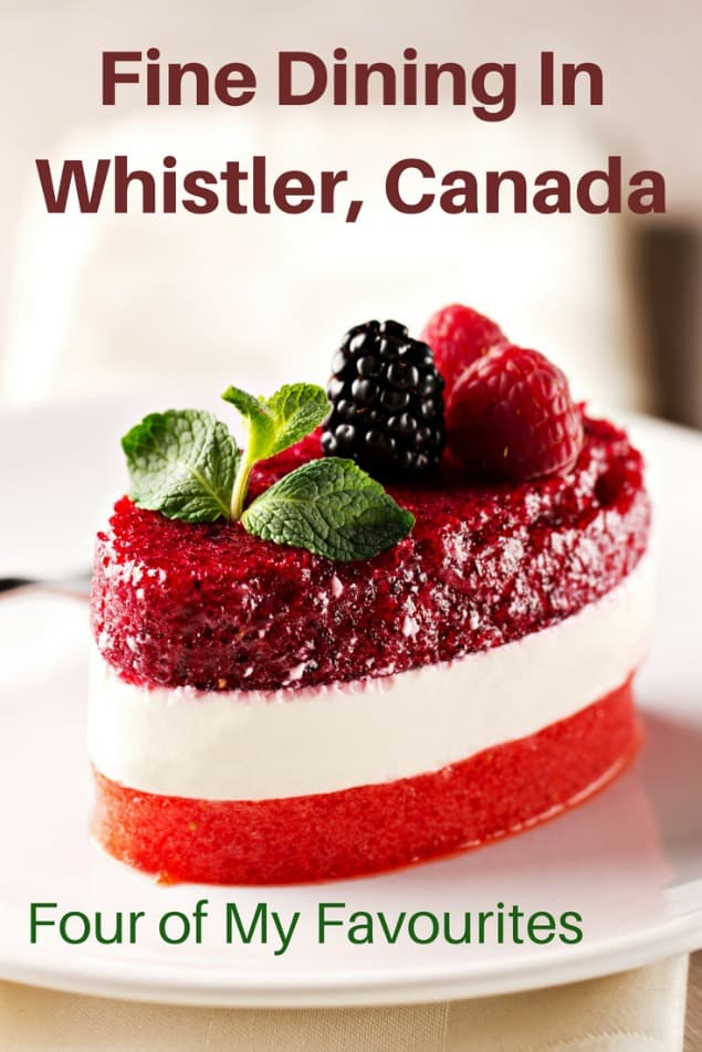 Whistler is filled with amazing restaurants for all sorts of tastes and budget. If you love fine dining and you have a bit of wiggle room on your budget, then Whistler has phenomenal choices. Here are my four favourite fine dining options. #travel #familytravel #foodie #Whistler #BritishColumbia #Canada |Araxi, Asian, dessert, Four Seasons, French, Il Caminetto, Italian, menu, oyster, promotions, reservations, Rim Rock, risotto, Sidecut, sides, West Coast, fine dining|