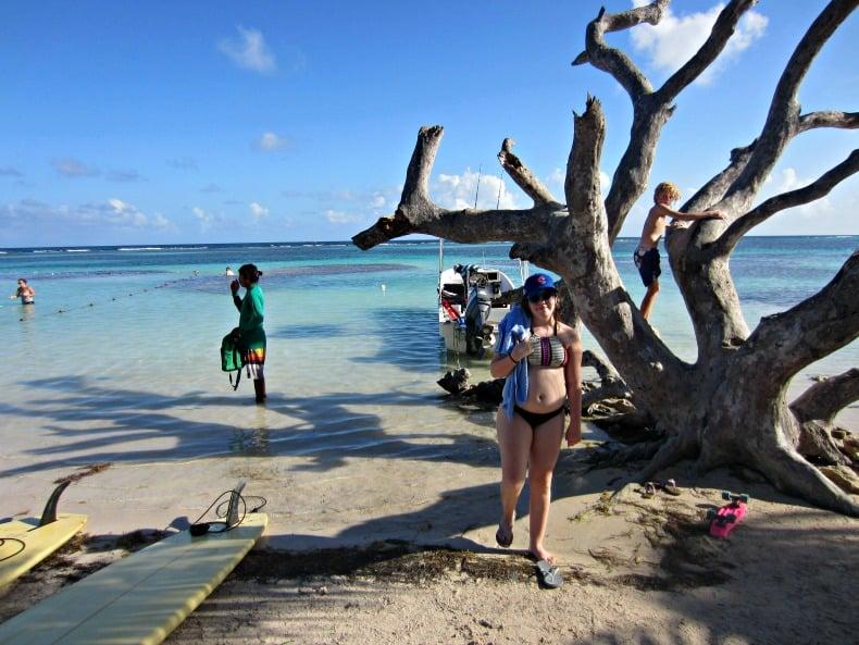 mahahual beach in costa maya mexico