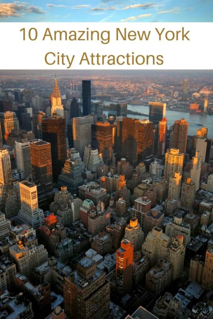 For those who have never been and for those who have been many times before, here are 10 amazing New York City attractions that I highly recommend! #travel #familytravel #travelwithkids #travelwithteens #NewYork  America, bike tour, Black Tap, Broadway, Broadway box, bus tour, Central Park, Century 21 Department, discount tickets, Ellis Island, Empire State Building, Foot Locker, Knickerbocker, milkshakes, New York, Playbill, shopping, Statue of Liberty, subway, The Ride, Time Square, TKTS, USA