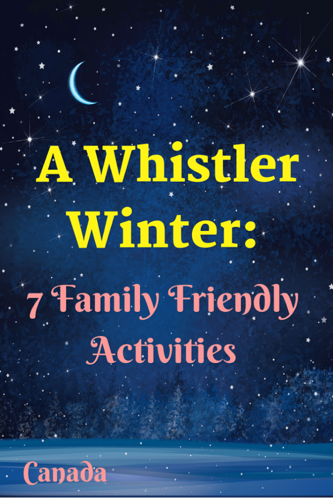 Whistler in British Columbia, Canada has an awarding winning world class ski and snowboard resort. However, there are lots of other things that you can do during a Whistler winter. Here are my 7 favourite family friendly activities. #travel #familytravel #Canada #Winteractivities |Christmas lights, Creekside, Dustys, Fire and Ice Show, ice skating, Longhorn, Merlins, Peak 2 Peak Gondola, snowboard, tubing, Whistler Village lights