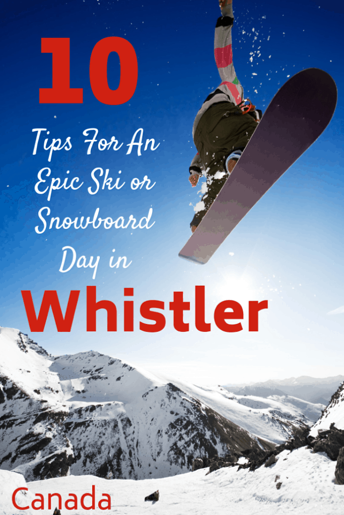 Whistler in British Columbia, Canada is home to the internationally recognized Whistler Ski Resort which is made up of two enormous mountains, over 200 ski runs, and 36 lifts and gondolas. I have spent the last 18 years skiing here with my four kids. Here are 10 tips and tricks to make the most out of your ski or snowboard day. #travel #familytravel #skiholiday #snoboardholiday | Base II, Blackcomb, Creekside, Excalibur, Fitzsimmons, Gondola, lessons, lifts, Peak 2 Peak, ski, snowboard,