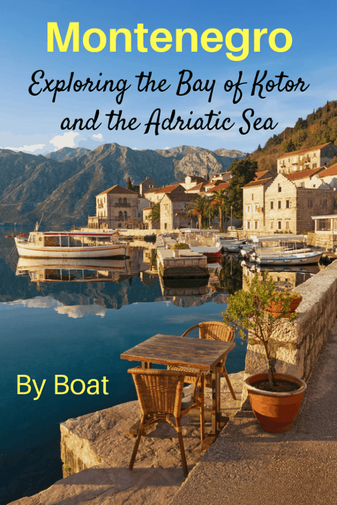 If you are lucky and find yourself in Montenegro for a few days, make sure you rent a boat and spend a day exploring the Bay of Kotor and the Adriatic Sea. We did and found a breathtaking country with amazing history, culture and beaches. #travel #Montenegro, #Europe #Familytravel #Adriatic Sea.  Bay of Kotor, Blue Caves Our Lady of the Rocks, Perast, Plaza Stevuzo, submarines, Vadar Hotel