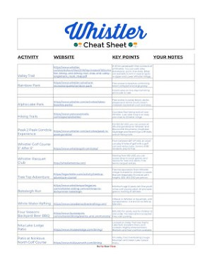 Whistler summer